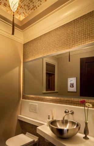 卫生间咖啡色细节现代风格装饰设计图片