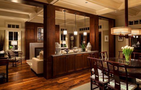 餐厅咖啡色细节现代风格装潢设计图片