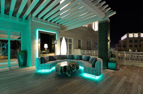 阳台绿色沙发现代风格装饰效果图