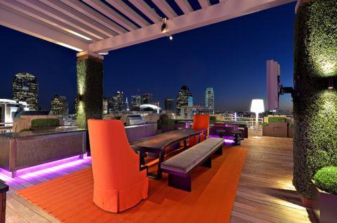 阳台灰色餐桌现代风格装修图片