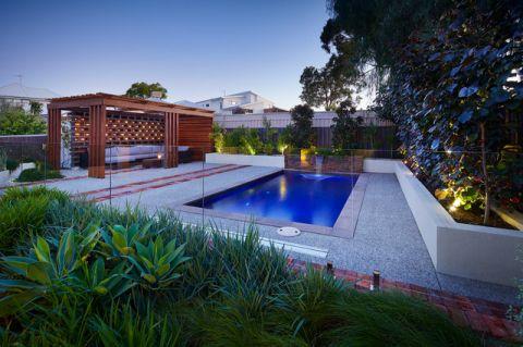 外景白色泳池现代风格效果图