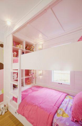 儿童房粉色床现代风格装修图片