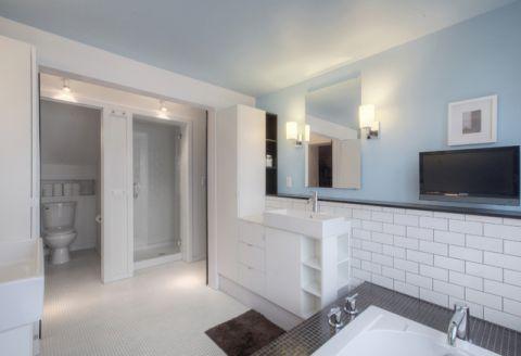 卫生间蓝色细节现代风格装修设计图片