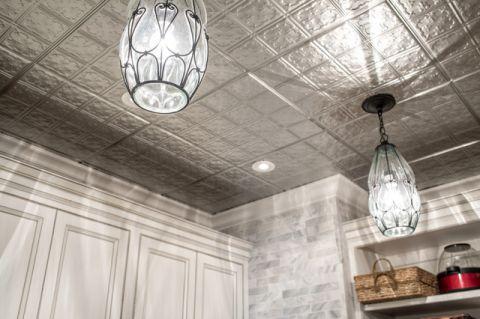 厨房白色吊顶美式风格装饰设计图片