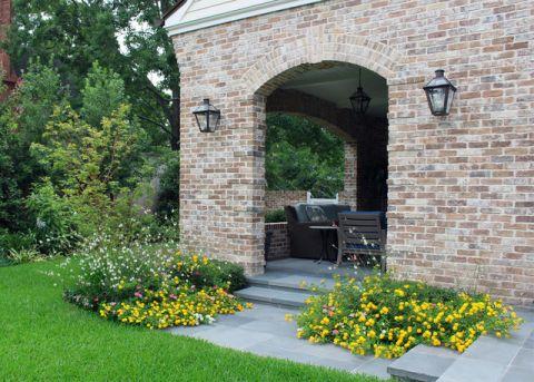 花园灰色门厅美式风格装修图片