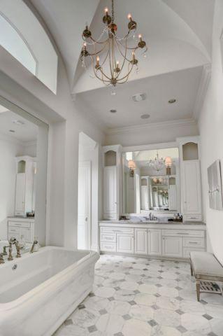 卫生间白色细节美式风格装修图片