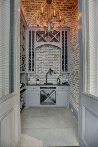 酒窖白色细节美式风格装潢图片