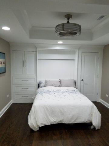 卧室白色细节美式风格效果图