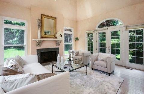 客厅黄色细节美式风格装饰设计图片