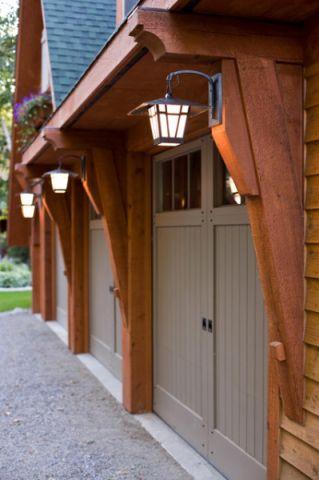 外景门厅美式风格装潢设计图片