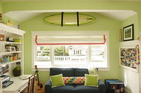 儿童房飘窗美式风格装饰设计图片