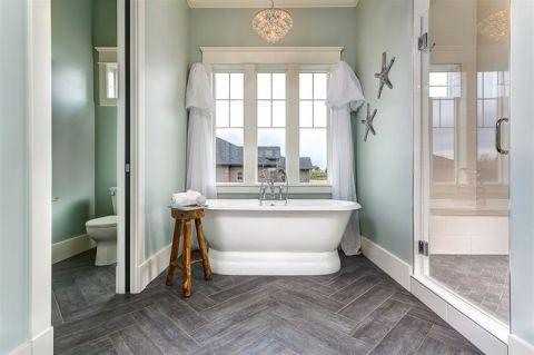 卫生间浴缸美式风格装饰效果图