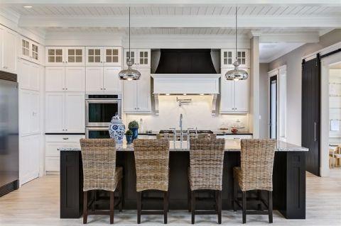 厨房吧台美式风格装饰图片