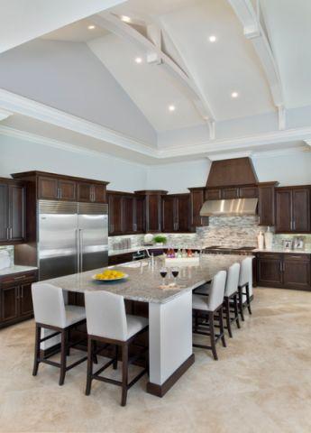 厨房餐桌美式风格效果图