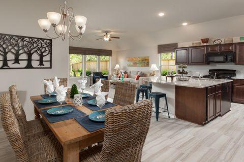 厨房餐桌美式风格装修效果图