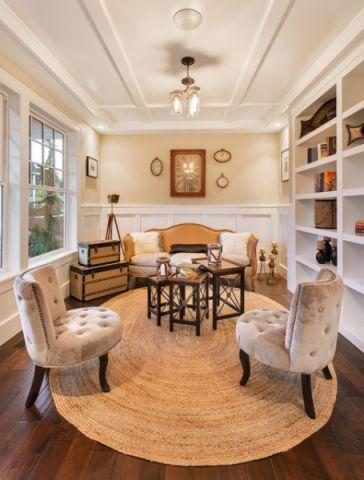 客厅餐桌美式风格装修设计图片