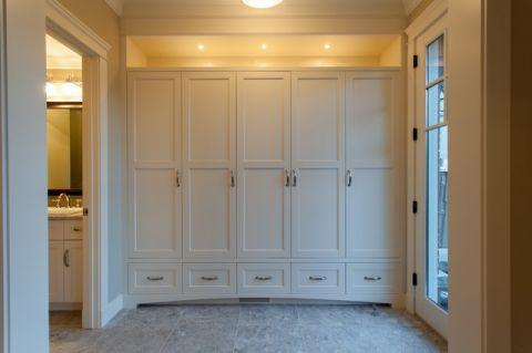 玄关白色鞋柜美式风格装潢效果图