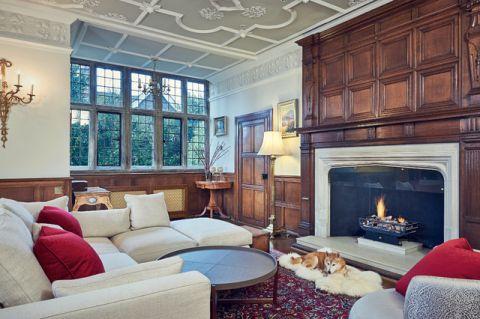 客厅咖啡色细节美式风格装饰设计图片