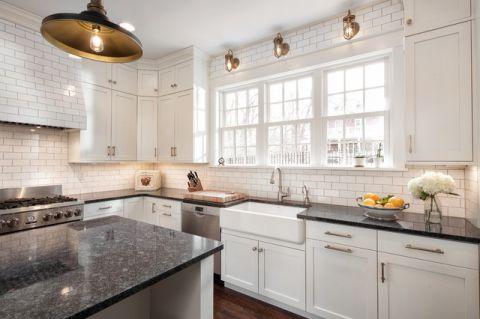 厨房白色细节美式风格装修设计图片