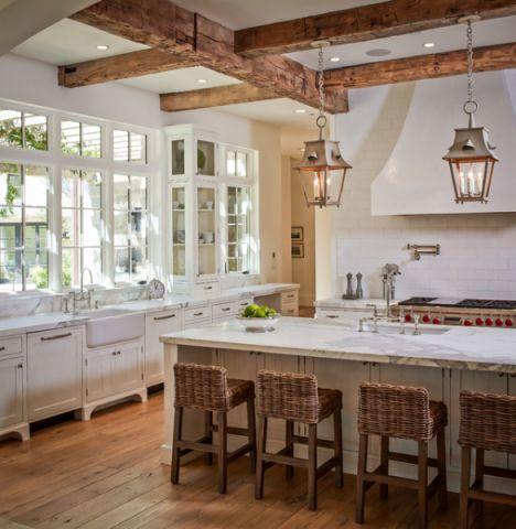 厨房白色细节美式风格装饰设计图片