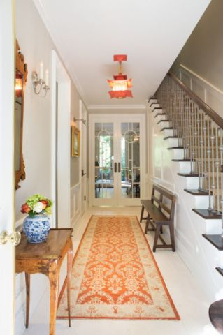 玄关白色楼梯美式风格装修效果图