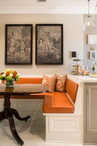 餐厅橙色细节美式风格装饰图片
