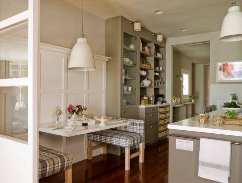 厨房白色细节美式风格效果图