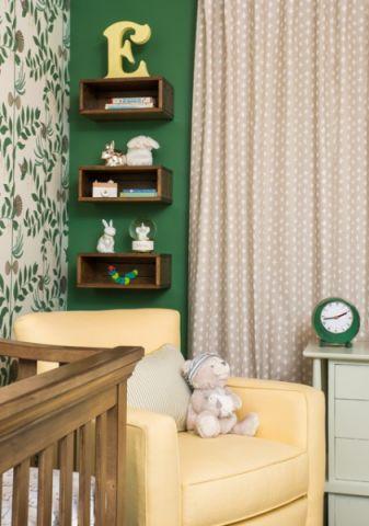 儿童房黄色沙发美式风格装饰效果图