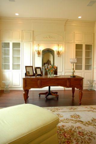 书房白色细节美式风格装潢图片