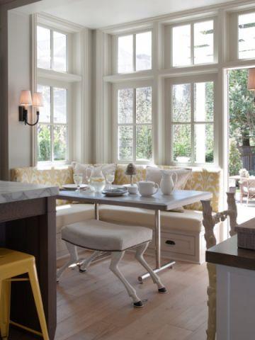 餐厅白色餐桌美式风格装修效果图