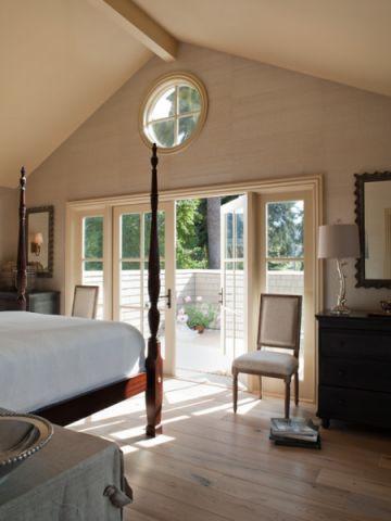 卧室白色细节美式风格装饰设计图片