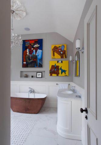 卫生间浴缸混搭风格装修图片