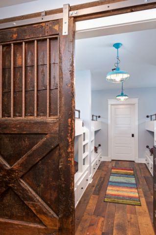 卧室咖啡色隐形门混搭风格装潢效果图