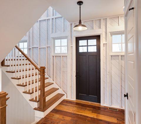 玄关白色楼梯混搭风格装饰图片