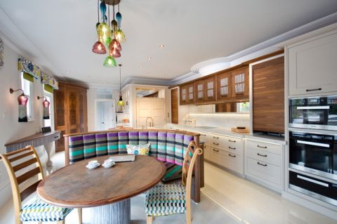 厨房餐桌混搭风格装潢设计图片