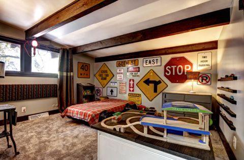 休闲质感混搭风格儿童房装修效果图