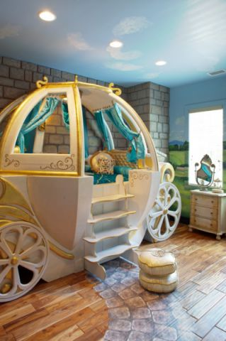 简洁优雅混搭风格儿童房装修效果图