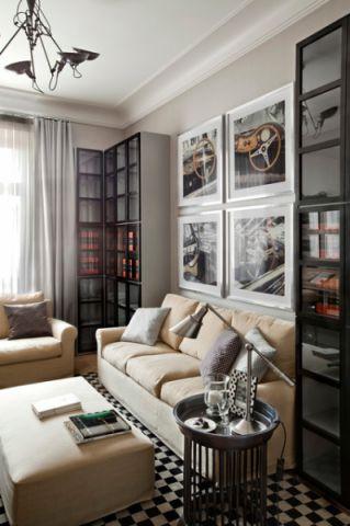 客厅米色沙发混搭风格效果图