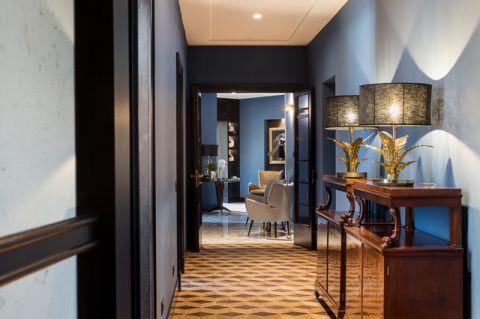 玄关彩色走廊混搭风格装潢设计图片