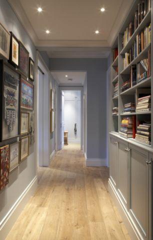 玄关灰色走廊混搭风格装饰设计图片