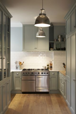厨房灰色橱柜混搭风格装潢设计图片
