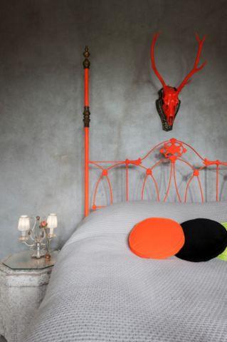 卧室灰色床混搭风格装修效果图