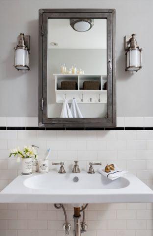 卫生间白色细节混搭风格效果图