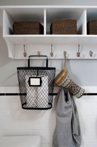 卫生间白色细节混搭风格装潢效果图