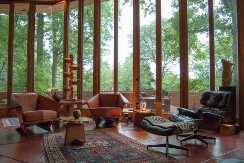 客厅咖啡色细节现代风格装潢设计图片