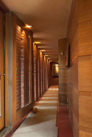 玄关咖啡色走廊现代风格装修图片
