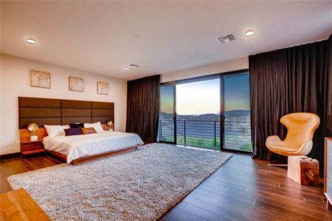 卧室咖啡色地砖现代风格效果图
