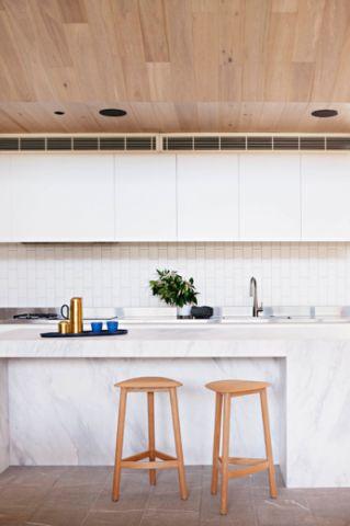 厨房白色现代风格装饰图片