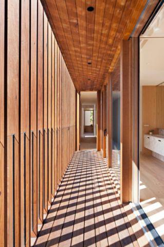 玄关咖啡色走廊现代风格装修设计图片