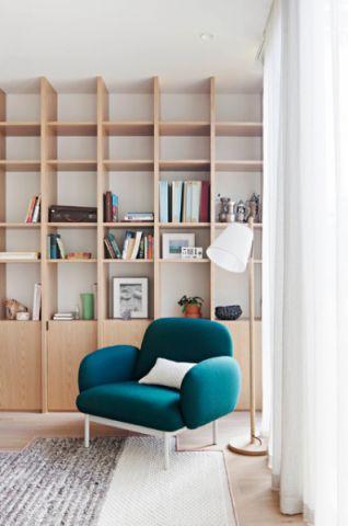 书房咖啡色书架现代风格装饰设计图片